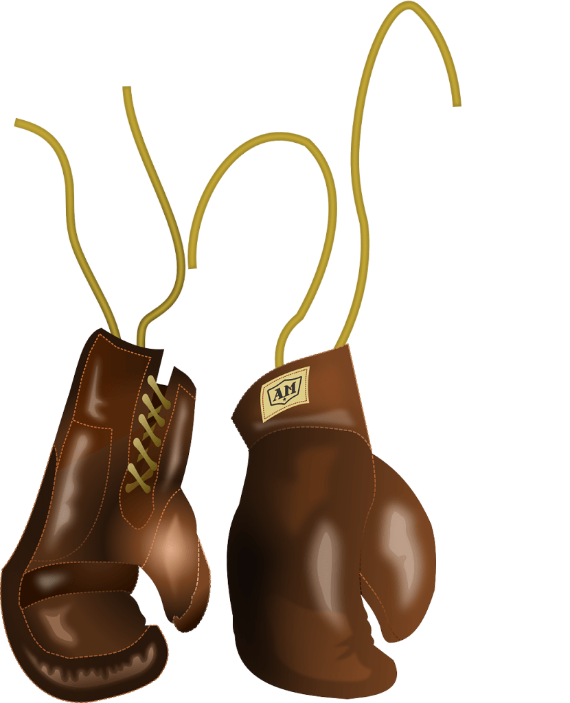 brown boxing glove for heavy bag