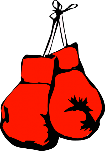 red boxing glove for a beginner icon