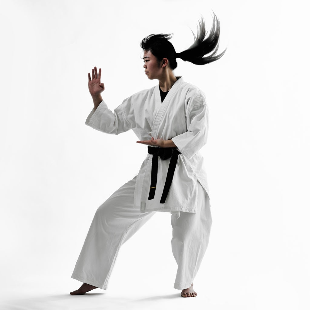 Japanese woman doing karate