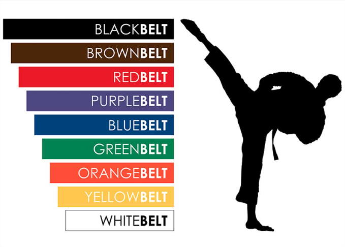 karate belts order by color